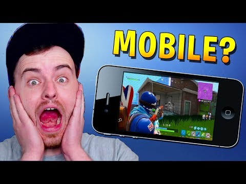 PLAYING FORTNITE ON MY IPHONE X!? (Fortnite iOS Battle Royale Mobile Invite Only)