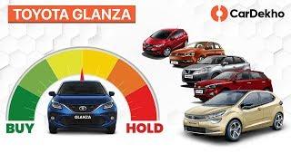 Toyota Glanza 2019 India vs Baleno, Elite i20, Jazz, Polo & Tata Altroz | CarDekho.com | #BuyOrHold