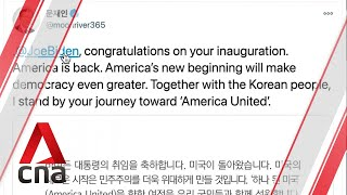 S Korean President Moon says 'America is back', wants to help resume talks with Pyongyang