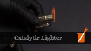 Catalytic cigarette lighter