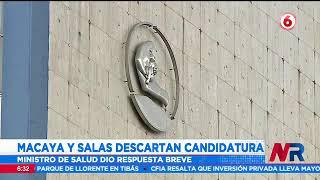 Macaya y Salas descartan aspiraciones presidenciales para el 2022