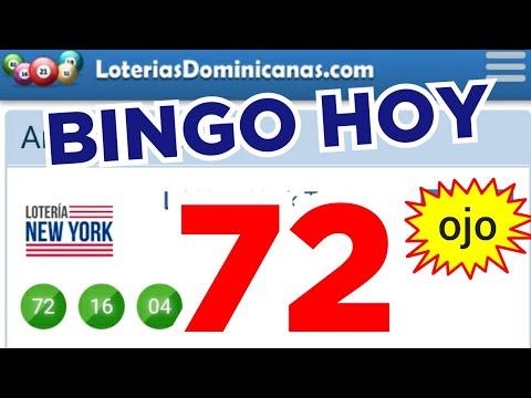 RESULTADOS de HOY..!! (( 72 )) BINGO hoy..! loteria NEW YORK TARDE de HOY..!! NÚMEROS PARA HOY
