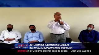 Autoridades juramentan Consejo Regional Agropecuario de Barahona