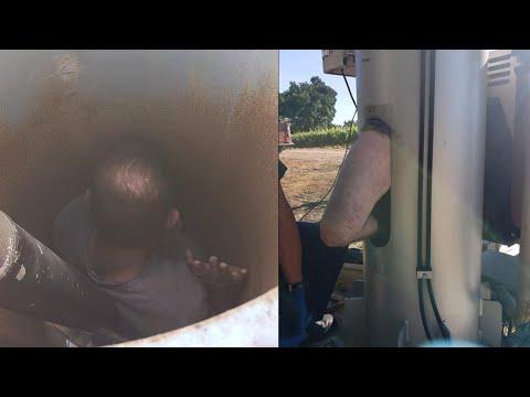 Hombre quedó atrapado durante dos días en el ventilador de un viñedo