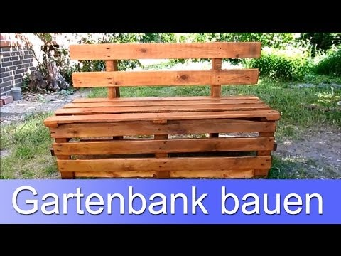 youtube to mp3 diy eine bank aus europaletten bauen. Black Bedroom Furniture Sets. Home Design Ideas