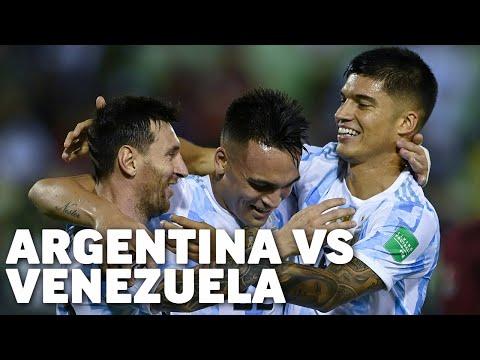 Eliminatorias Sudamericanas fecha 9 | Venezuela 1 - Argentina 3 | Qatar 2022