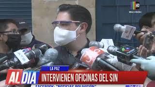 Intervienen oficinas del SIN por presuntas irregularidades