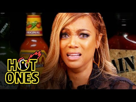 Tyra Banks Cries For Her Mom While Eating Spicy Wings   Hot Ones