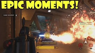 EPIC MOMENTS MONTAGE #1 (Star Wars BattleFront / Hero Battles, Multikills and EPIC Stunts))