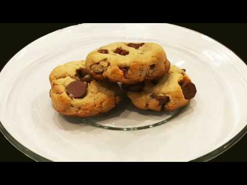 BEST Gluten Free Diabetic Friendly Low Carb Chocolate Chip & Pecan Cookie Recipe ; Low Glycemic