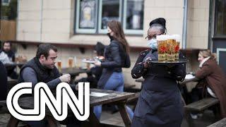 Reino Unido começa a abrir restaurantes e lojas | CNN PRIME TIME