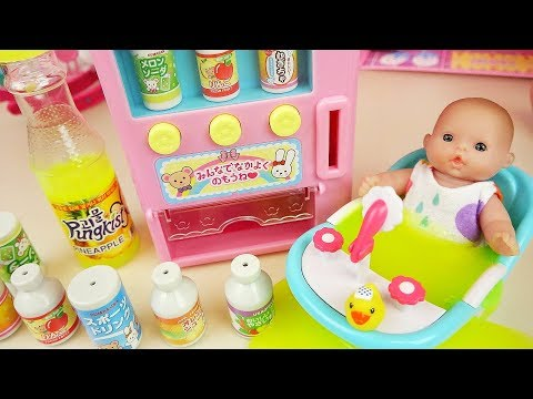Drinks machine and Baby Doll toys slime play