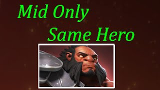 Dota 2 Mid Only Same Hero - Axe Gameplay Commentary