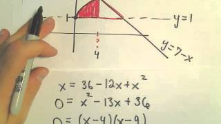 Area of a Region Bounded by 3 Curves (Calculus)