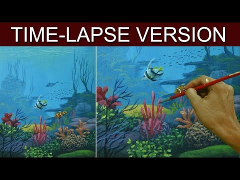 Time Lapse Version Underwater Acrylic Painting By Jm