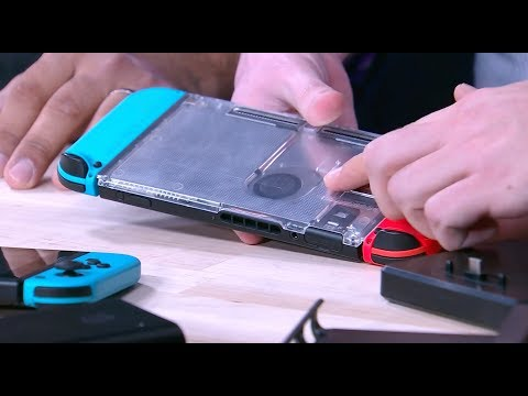Nintendo Switch cases, batteries, and controllers
