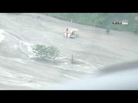 हेलिकप्टरबाट खिचिएको मेलम्ची क्षेत्रको दृश्य