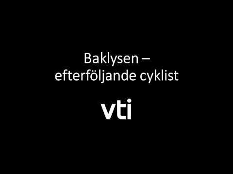 Test av cykellysen: Baklysen – efterföljande cyklist