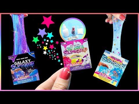 DIY Miniature $5 Slime Kits! Unicorn, Mermaid, Galaxy Slime DIYs – Tiny Slime Kits Tested!