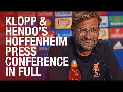 Klopp & Henderson | Pre Hoffenheim Champions League press conference
