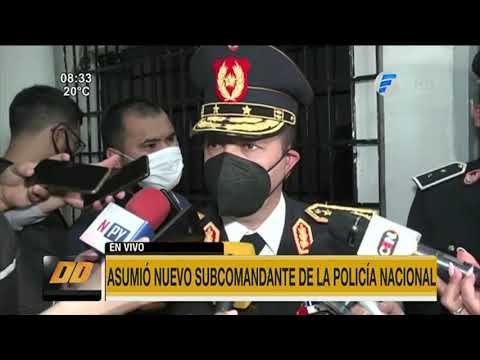 Asumió nuevo subcomandante de la Policía Nacional
