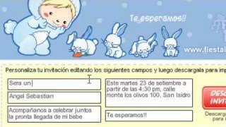 Fiesta Ideas Invitaciones Baby Shower.Invitaciones Baby Shower Fiesta Gratis Youtube