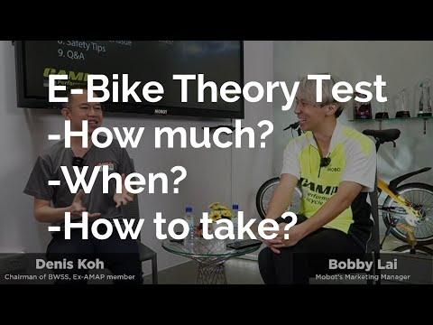 E Bike Theory Test in SG (FREE?!)