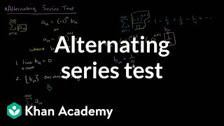 Alternating series test