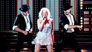 ¡Un espectáculo! Ángela Leiva fascinó a todos con su imitación a Christina Aguilera