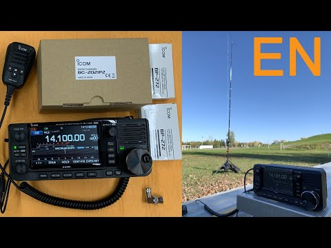 The ICOM IC-705 First impressions, tested with the SteppIR CrankIR Antenna and Unboxing