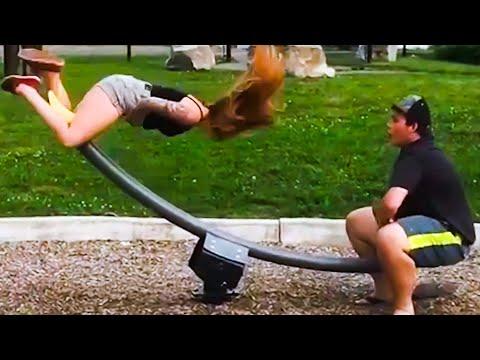 Girl Flies Off Seesaw | Funny Swing Fails