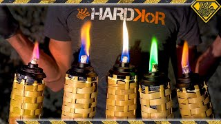 Making Colored Tiki Torches From Random Materials