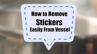 How to remove stickers easily from vessels    Sanjeev Kapoor Khazana - SANJEEVKAPOORKHAZANA