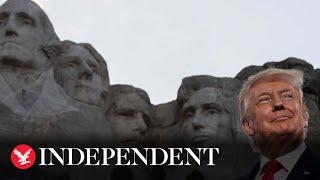 Trump blasts 'far-left fascism' in Mount Rushmore speech