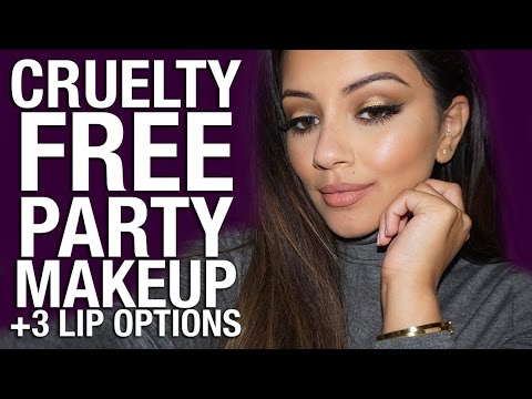 FULL FACE Cruelty Free Party Makeup Tutorial + 3 Lip Options Ad