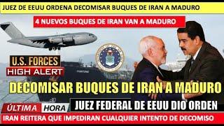 EEUU a detener 4 buques que Iran envia a Maduro amenazan con responder