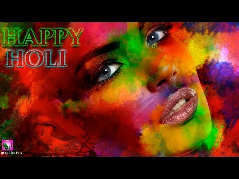 Holi Special(Happy Holi) Photo Effect In Photoshop - Colorful Photo Effect - Photoshop Tutorial