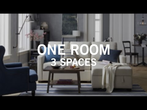 Small Space Big Style: One Room 3 Spaces