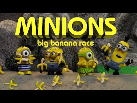 Despicable Me Minions in Big Banana Race