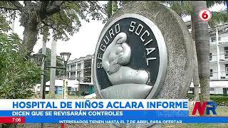 Hospital de Niños aclara informe sobre irregularidades en vacunación
