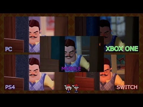 Hello Neighbor Act 2 All Cutscenes - PC vs. Xbox One vs. PS4 vs. Switch vs. Mobile