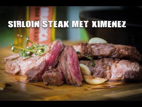 Sirloin steak met Ximenez en rode bessensaus | Fire&Food TV