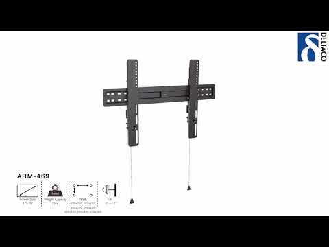 DELTACO Väggfäste för TV/Skärm - installationsanvisning ARM-469