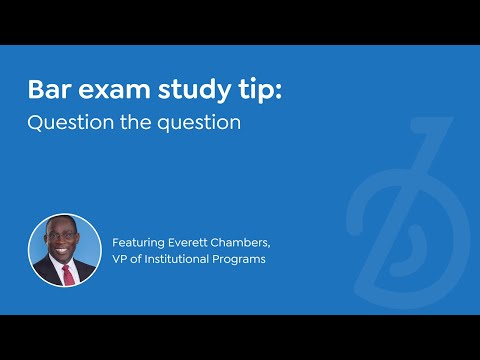 QUESTION THE QUESTION   Everett Chambers, BARBRI Vice President of Institutional Programs