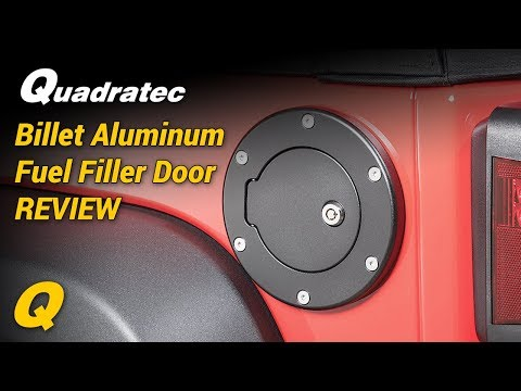 Quadratec Billet Aluminum Fuel Filler Doors for 07-18 Jeep Wrangler JK