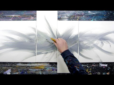 Fluorescent colours, Transparency, Balance / ABSTRACT PAINTING | Circen