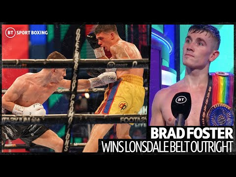 """""""I want to go out for a dance and a boogie!"""" Brad Foster first words after winning Lonsdale belt 11"""