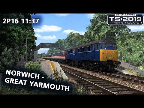 Train Simulator 2019:  2P16 11:37 Norwich - Great Yarmouth
