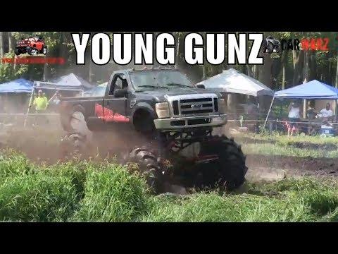 YOUNG GUNZ Mega Ford At Perkins Summer Sling Mud Bog 2018