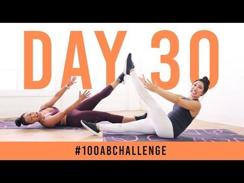 Day 30: 100 Single-Legged Jackknives!   #100AbChallenge w/ Jeanette Jenkins